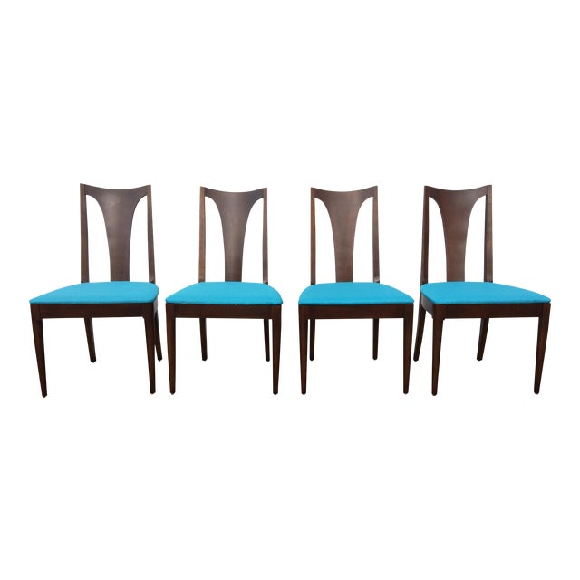 Broyhill Restored Walnut Chairs - Set of 4 - Image 1 of 8