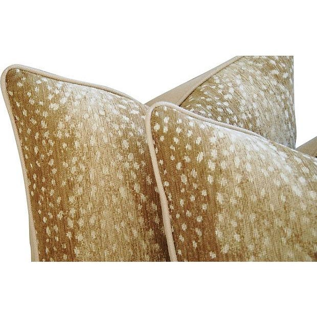 Image of Fawn Spot Velvet Pillows- A Pair