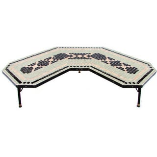 Art Deco Mosaic Boomerang Coffee Table