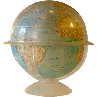 Vintage 1960s National Geographic Globe