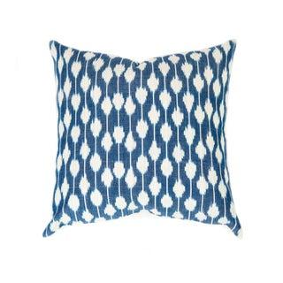 Dotted Indigo Ikat Handwoven Guatemalan Pillow