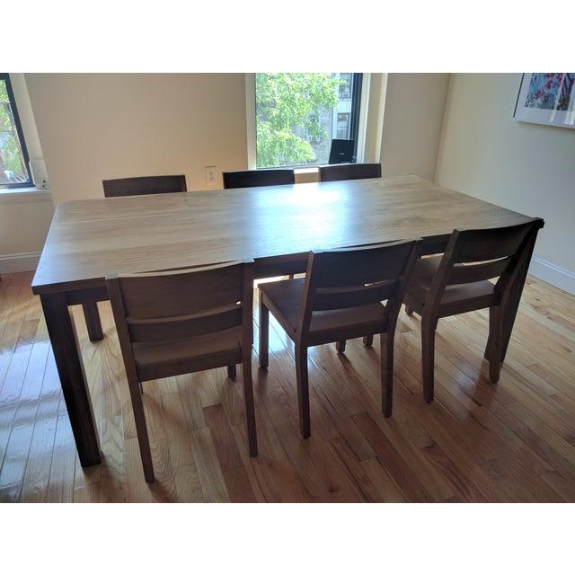Room & Board Walnut Dining Table Set - Image 4 of 5