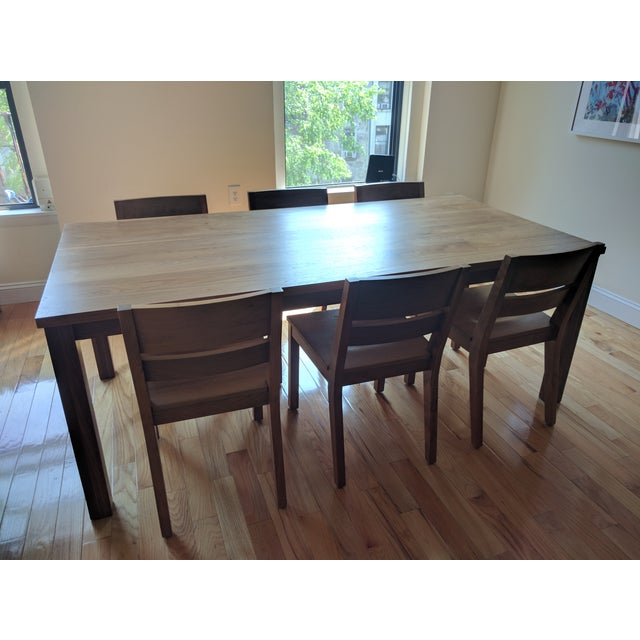 Image of Room & Board Walnut Dining Table Set