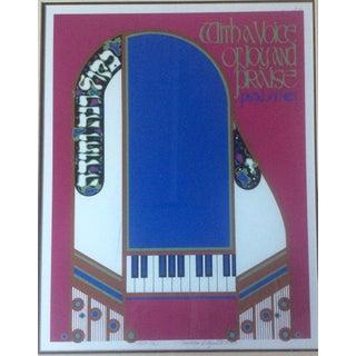 Mordecai Rosenstein 'Piano' Lithograph