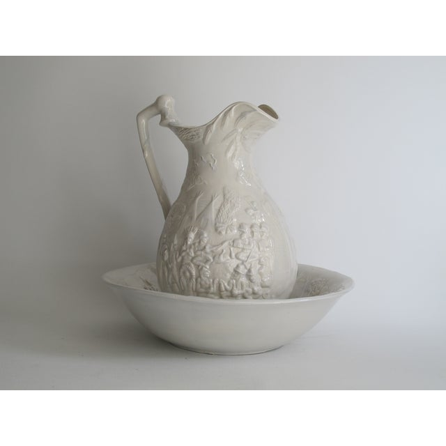 American White Ceramic Wash Basin & Pitcher - Image 3 of 8