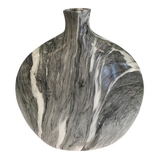 Marblized Clay Vase
