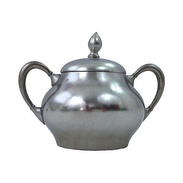 Pewter Teapot Sugar And Creamer - Set of 3 - Image 3 of 7