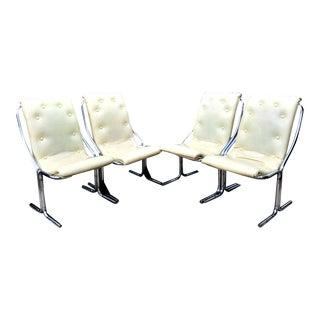 Mid-Century Modern Daystrom Tublar Chrome Chairs & Table Set