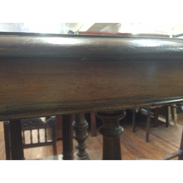 Petite Antique French Henry II Walnut Dining Table - Image 9 of 10