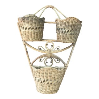 Peacock Style Wall Basket