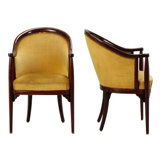 Pair Art Deco Era Thonet Arm Chairs