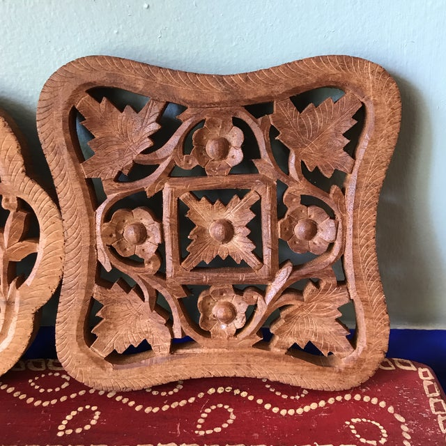 Hand-Carved Trivets - Set of 3 - Image 4 of 10