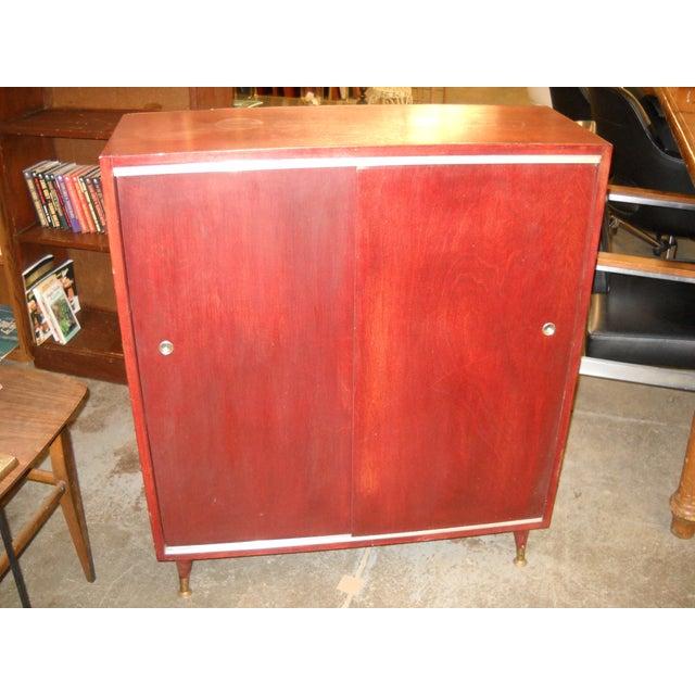 Vintage Midcentury Modern Record Cabinet - Image 2 of 11