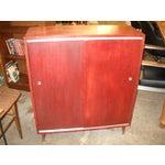 Image of Vintage Midcentury Modern Record Cabinet