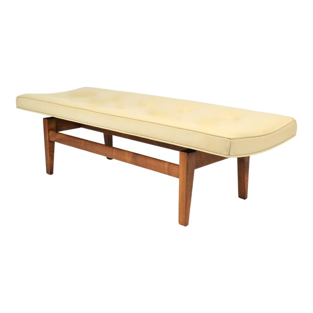 Jens Risom Floating Bench with Leather Seat - Image 1 of 9