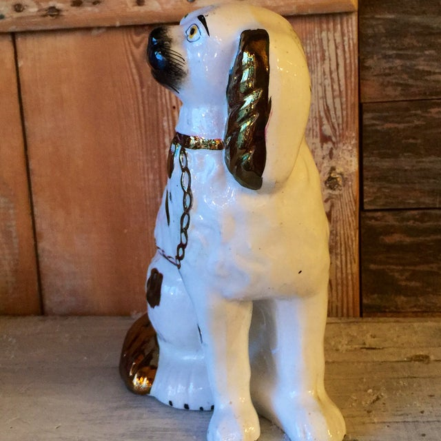 Image of Staffordshire Copper Luster King Charles Spaniel
