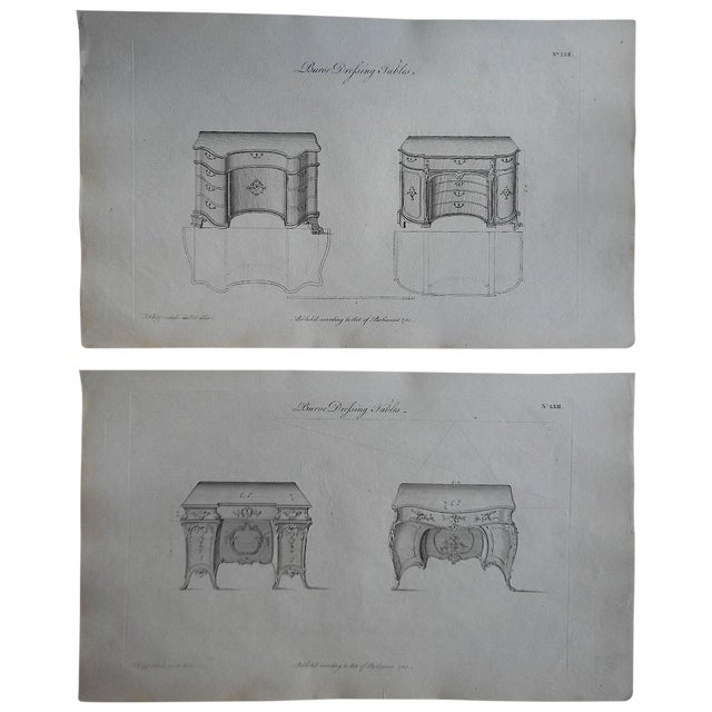 Image of 18th-Century Chippendale Furniture Engravings