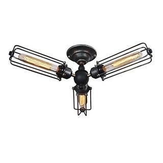 3 Bulb Industrial Ceiling Light