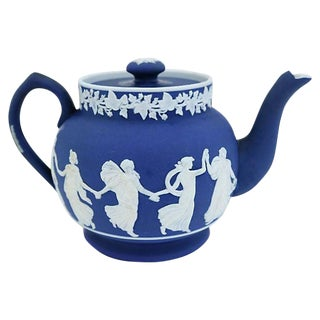 Antique Wedgwood Jasper Dip Single Cup Teapot