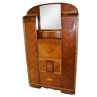 Vintage Art Deco Chifferobe Armoire