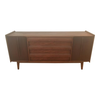 Lane Mid-Century Modern Walnut Wood Sideboard