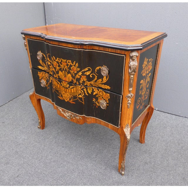French Rococo Coffee Table: French Rococo Ormolu Side Table