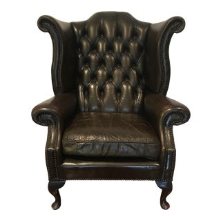Vintage Tufted Wingback Arm Chair