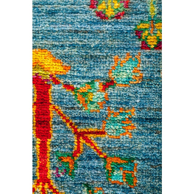 "New Blue Hand-Knotted Rug - 4'1"" X 6'7"" - Image 3 of 3"
