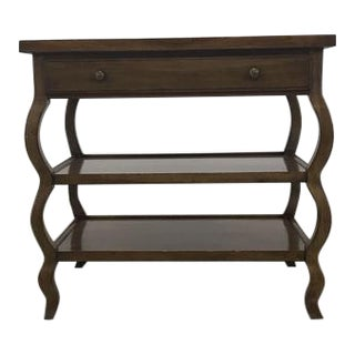 Baker Curved Leg Entry Table with Drawer