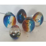 Image of European Glass Paper Weights - Set of 5