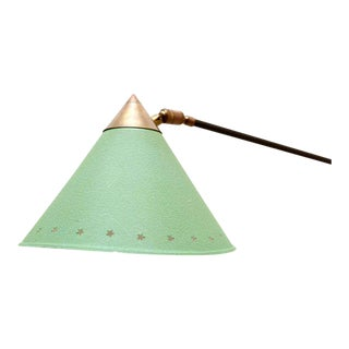 Mid Century Modern Pierre Guariche Green Wall Sconce