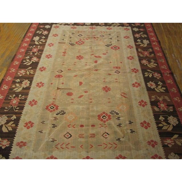 "Vintage Besserabian Flat-Weave - 6'7"" x 9'5"" - Image 5 of 5"