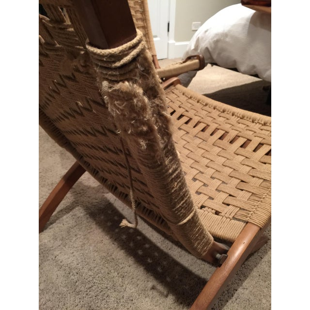 Wegner Style Folding Woven Chairs - A Pair - Image 6 of 6