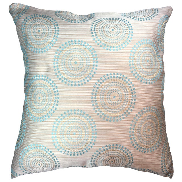 Natural Geo Modern Beige Polyester Throw Pillow - Image 1 of 2