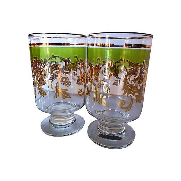 Midcentury Holiday Beverage Glasses - Set of 8 - Image 3 of 6