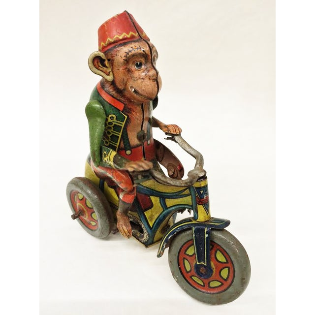 Image of Vintage Monkey Tin Toy