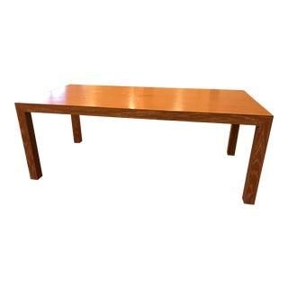 Custom Zebrawood Dining Table