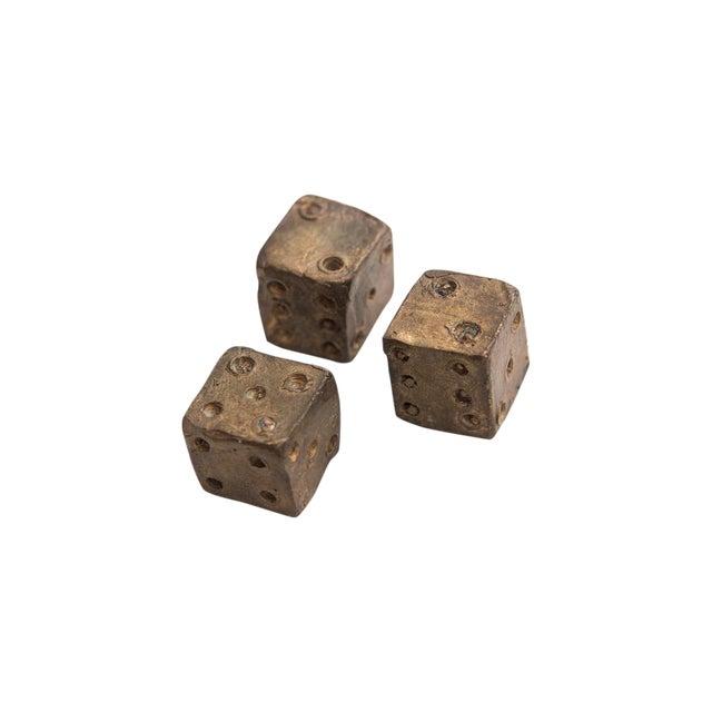 Bronze Dice Sculpture - Set of 3 - Image 1 of 5