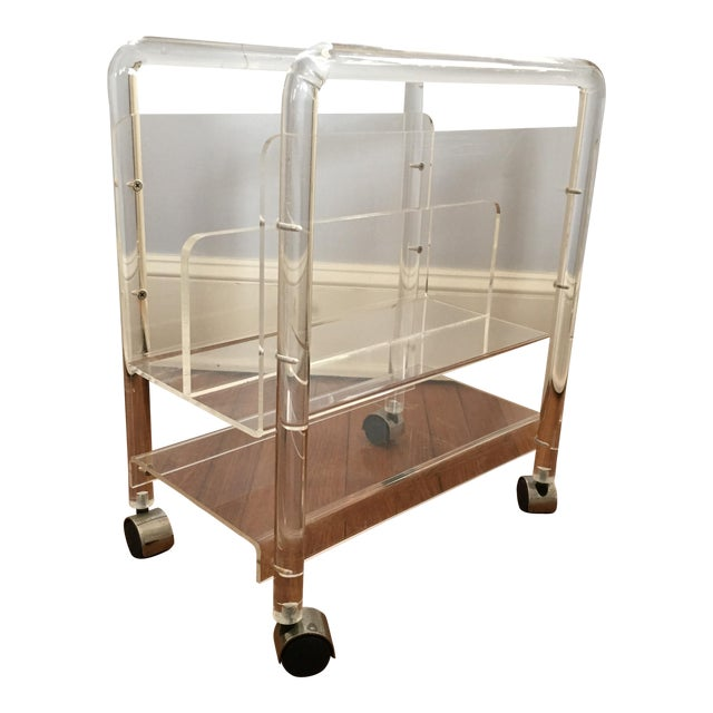 Vintage Lucite Magazine Stand - Image 1 of 4