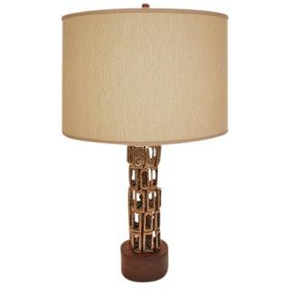 Bronze Sculptural Table Lamp
