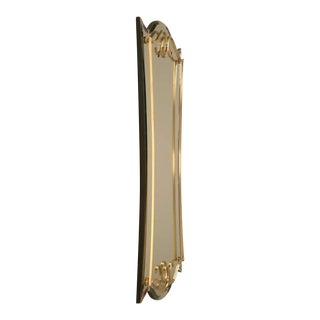 Custom Mirror with Brass Trim