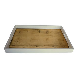 Hollywood Glamour Gold Leaf Inlay Lacquer Tray