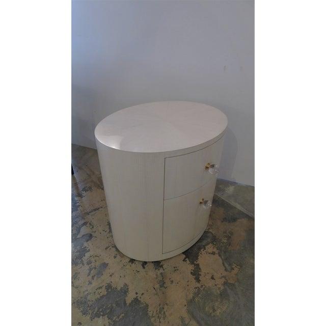 Italian-Inspired 1970S Style Oval Nightstand - Image 8 of 8