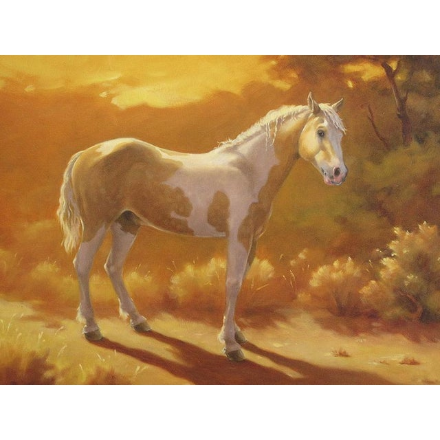 "Ute Simon ""Sunset Over Moon"" Horse Painting - Image 3 of 6"