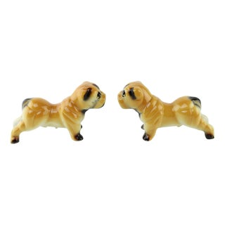 Vintage Ceramic Bulldogs - A Pair