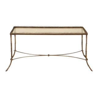 Vintage French Brass & Glass Coffee Table