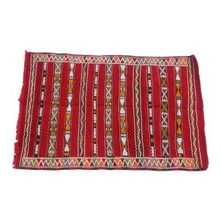 "Moroccan Berber Tribal Kilim Rug- 2' 7.5"" x 3' 10"""
