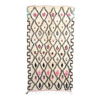 Vintage Moroccan Azilal Rug - 4′4″ × 7′2″