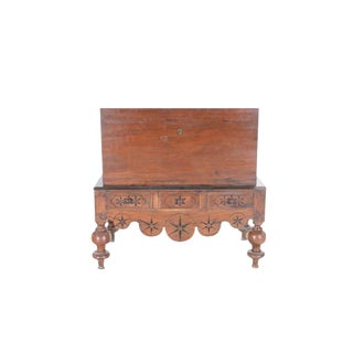 Dutch Colonial Mahogany Chest On Stand