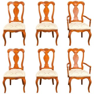 Provincial Mahogany Dining Chairs - Set of 6